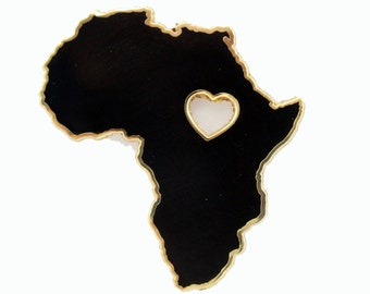 Heart of Africa – Black & Gold Enamel Pin