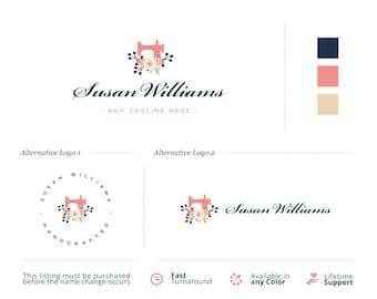 Premade Mini Branding Kit. Premade Logo Design. Tailors Logo. Sewing Machine Logo. Sew Logo. Embroidery Logo. Premade Branding. Premade Logo