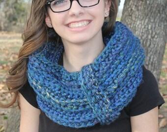 multi color cowl neck scarf