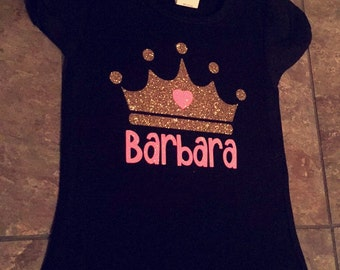 Crown shirt with name