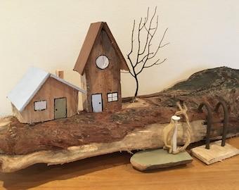 Driftwood sculpture / driftwood art / driftwood island