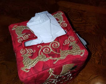 Christmas Reindeer tissue box cover