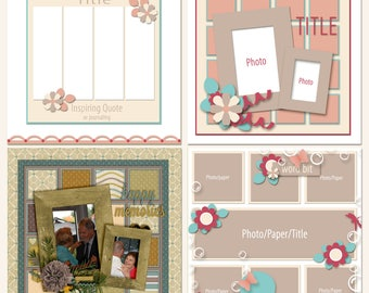 Simple Pages Digital Scrapbooking Templates