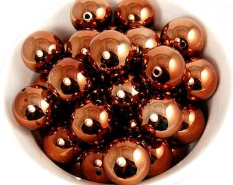 20 pcs Chunky Bubblegum Beads 20mm Shiny Goldenrod 20pcs