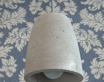 Win from concrete, concrete lamp, hanging lamp and pendant lamp with textile cable