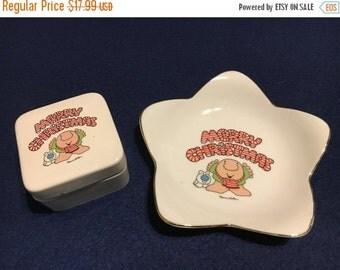 ON SALE Vintage Ziggy Plate and Jar