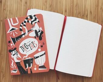 Age of Jazz Beatnik Cafe Notebook