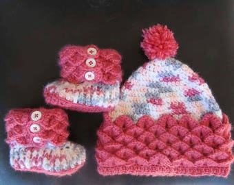 Pixie Baby Hat and Bootie Set