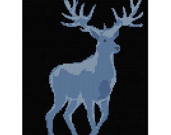 Stag Patronus Cross Stitch Kit / Harry Potter / Stag / Modern cross stitch