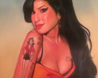 Amy Winehouse Oil Painting