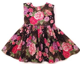 Flower Girls Dress, Trendy Kids Clothes, Girls Dress, Tea Party Dress, Toddler Dress, Girls Clothing, Girls Party Dress, Girls Bow Dress