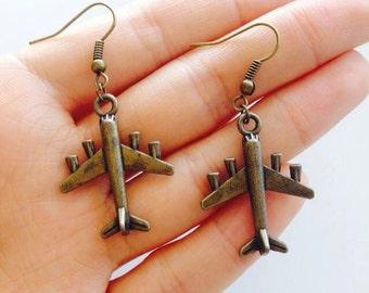 Funky Airplane Earrings