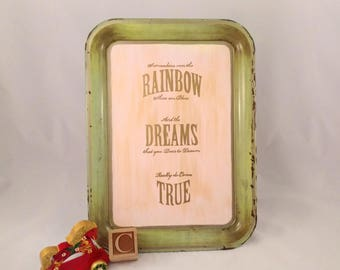 Somewhere Over The Rainbow - More Color Options - Redesigned Vintage TV Tray