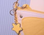 Cute Star enamel keyring, keychain, bag charm, key ring, key chain, gift, handbag charm stocking filler  gift