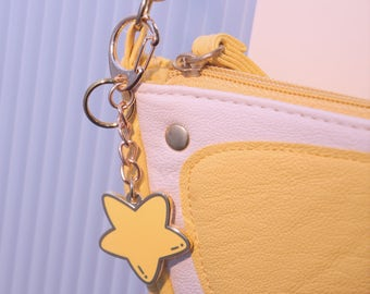 Cute Star enamel keyring, keychain, bag charm, key ring, key chain, gift, handbag charm
