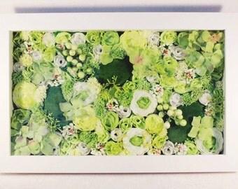 Original WWDH Evergreen Floral Framed Wall Art