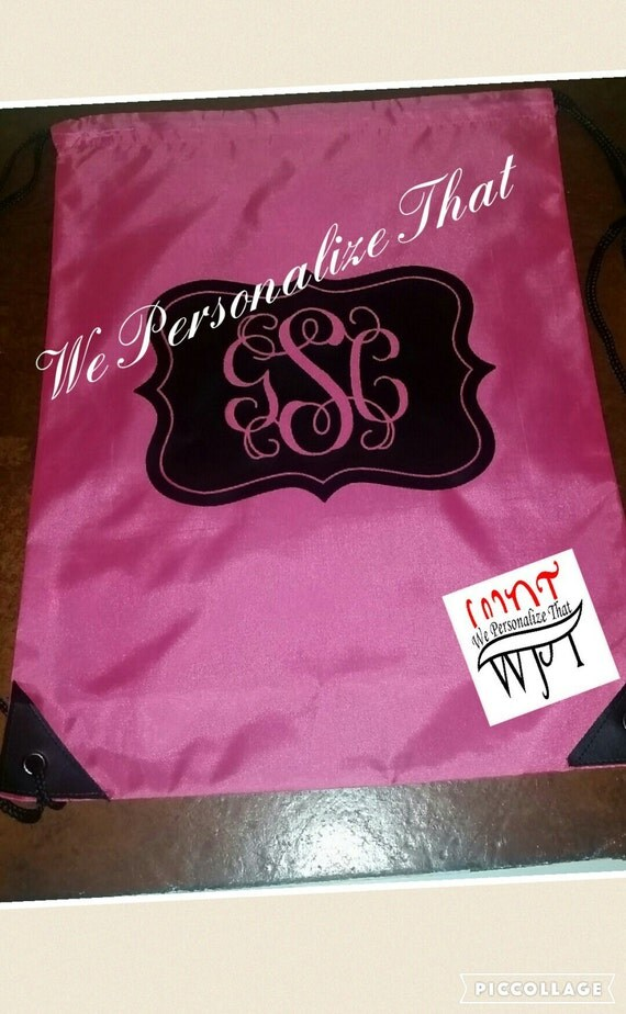 Personalized Monogrammed Drawstring Bag