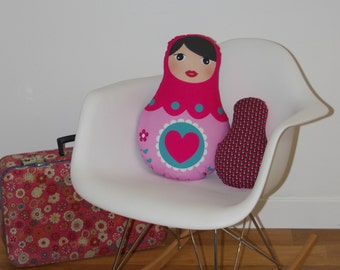 Cushion Pink matryoshka
