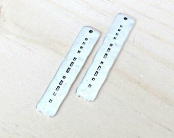 Hope morse code pendant, set of 4, morse code pendants, silver pendant, Hope pendant, Hope charm, silver hope, morse code charm, hope word