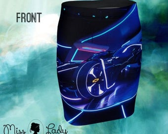 Trom tomorrowland photo fitted pencil skirt