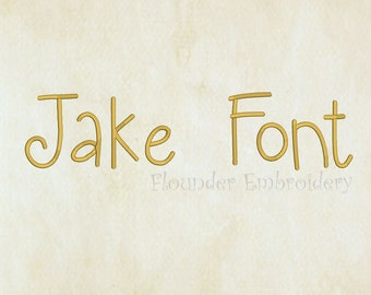 Jake Embroidery Font 5 Size Embroidery Designs Fonts INSTANT DOWNLOAD