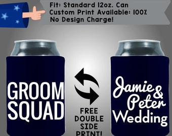 Grooms Squad Names Wedding Collapsible Fabric Wedding Cooler Double Side Print (W106)