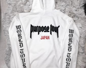 Purpose World Tour Japan Staff Pop Up Hoodie Merch Justin Bieber