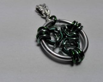 Pendant Silver/Green