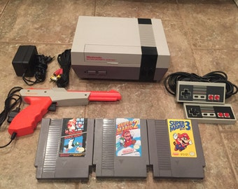 Nintendo Nes Console System w/ Super Mario Bros 1 2 3 Original Refurbished 72 Pin