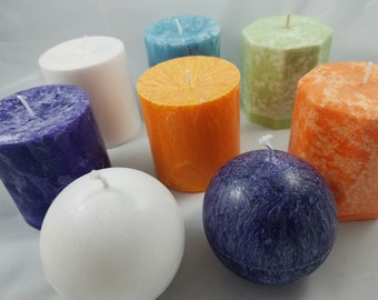 Palm Wax Pillar Candle Many options to choose from!