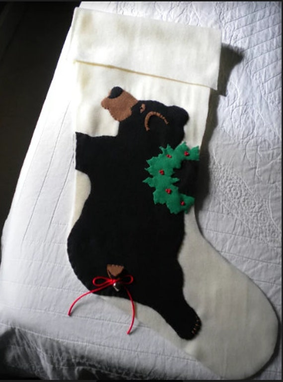 Black Bear Christmas Stocking