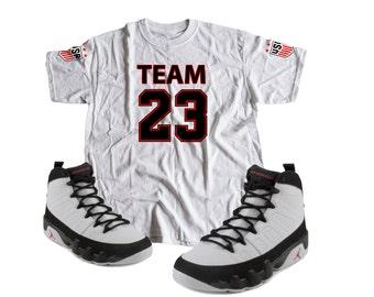 Shirt to match Nike Air Jordan Retro 9 Black tee s