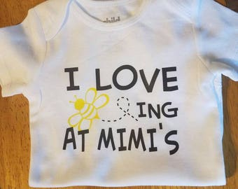 I Love Being Beeing at Mimi's Baby Boy Girl Onesie