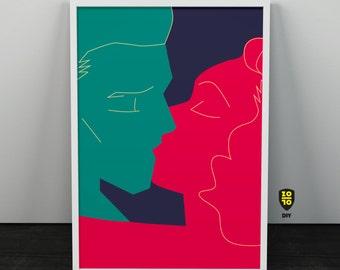 The Kiss Passion Trust Love Illustration by Alexander Fechner
