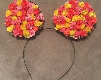 Floral Disney Mouse Ears - Small Flowers