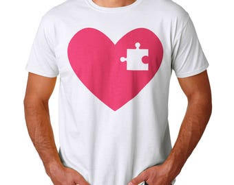 Lose A Piece Of My Heart Men's White T-shirt
