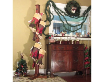 Christmas Stocking Stand (Stained)