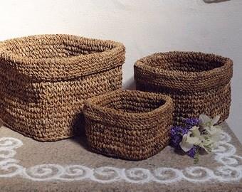 Square baskets - Set of 3