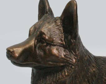 Corgi, Pembroke Welsh Standing - Small Cold Cast Bronze Dog Statue