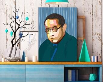 Tribute ToLion Feuchtwanger  FRAMED ART Literature  iconArt gallery Personalized Gift, Name, For Women, For Men, For Grandma, For Grandpa,