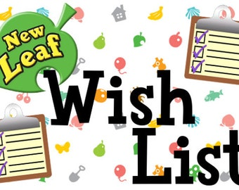Animal Crossing New Leaf Wish List (Items, Tools, Bells & Landscaping included)