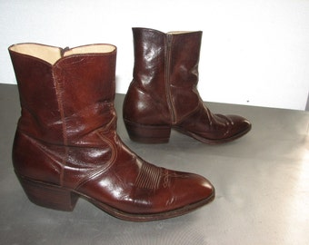 vintage dan post western cowboy boots made in spain size 9b