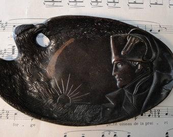 Antique French Napoleon / Eagle Bronze Tray c1920
