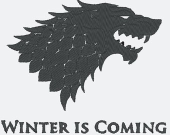 Winter is Coming - Stark - Embroidery File - 4x4