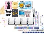 Gilmore Girls Inspired Erin Condren, Plum Paper Planner Weekly Sticker Kit