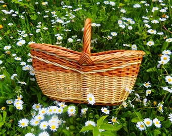 Woven wicker basket, mothers day gift, oval basket, flower girl basket, rustic interior, white wicker basket, serving tray, Photo Props