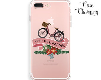 Clear Phone Case iPhone 7 Case Bicycle iPhone 7 Plus Case iPhone 6s Plus Case iPhone 6 Plus Case iPhone 6s Case iPhone 6 Case iPhone SE Case