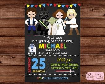 Star Wars Invitation - Star Wars Birthday Invitation - Star Wars Party invitation - Star Wars Birthday Invite - STAR WARS.