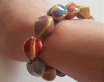 Stylish beaded women bracelet, beaded bracelet, colourful women bracelet, everydayuse bracelet, bachelorette bracelet, bride, women jewelery
