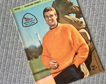 Patons Knitting Book 579 1960s 1970s Mens Knitwear Instructions